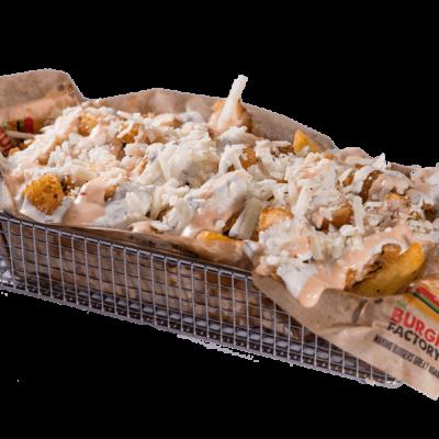 Chicken crispy strips fries reloaded